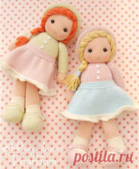 Вязаные куклы спицами Dolls.