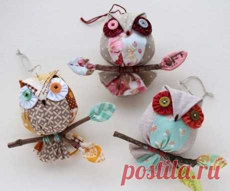 Текстильные совы!