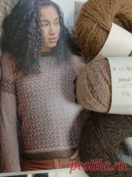 Несложный, но очень эффектный жаккардовый узор для женского пуловера   Изба-вязальня   Яндекс Дзен
