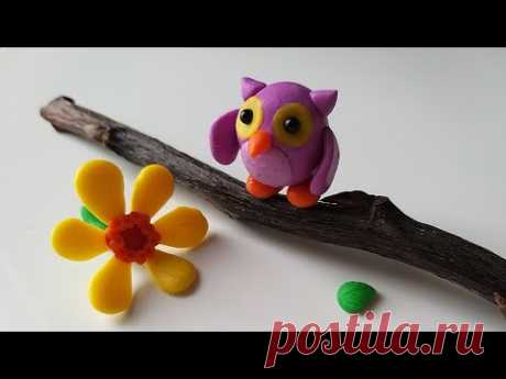 Сова из пластилина, полимерной глины или мастики (Modelling Clay Owl) - YouTube