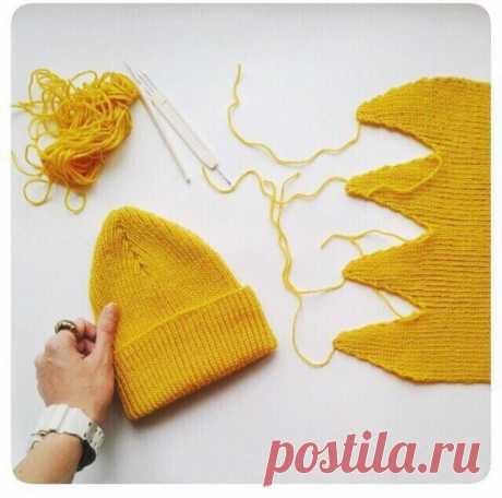 Лимонная шапочка - что-то новое! из категории Интересные идеи – Вязаные идеи, идеи для вязания