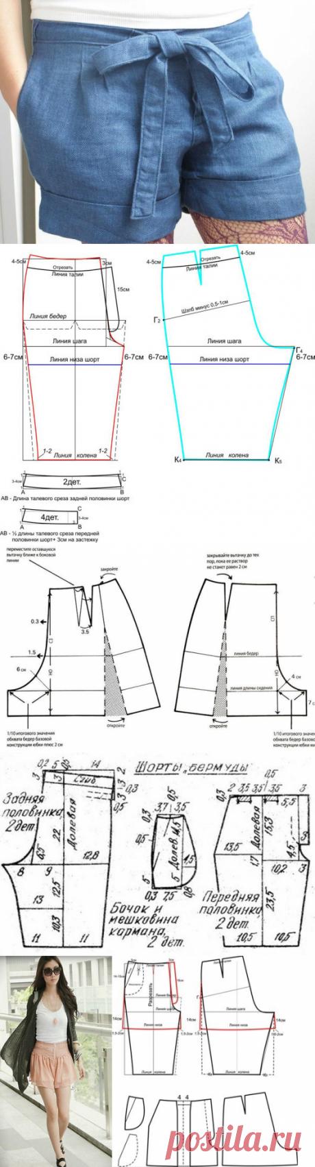 Как сшить шорты своими руками: подготовка к процессу, схема выкройки