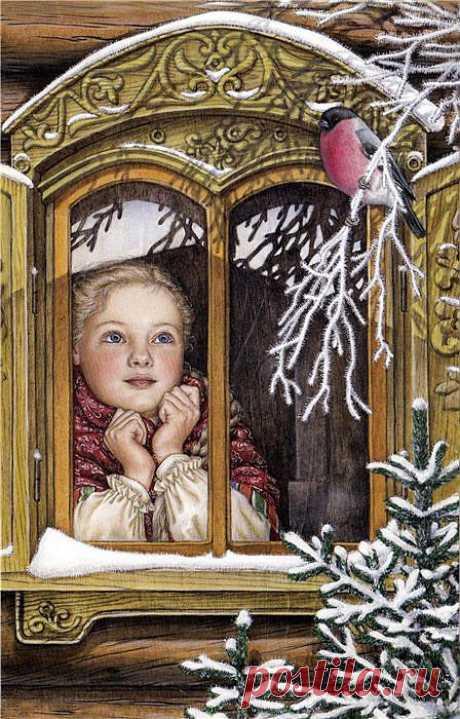 Ночью вьюга снежная заметала след.Розовое,нежное утро будет свет(Блок)(волшебная страна книг к.н.)