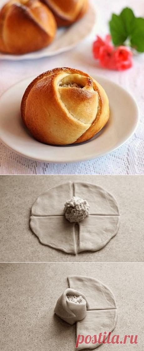 Выглядят потрясающе! Нежные «розы» с сыром и миндалем — Вкусные рецепты