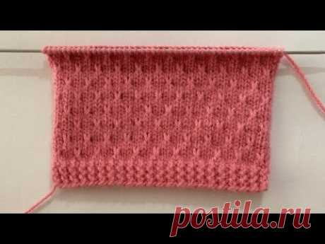 Easy New Knitting Stitch Pattern For Sweater/Cardigan