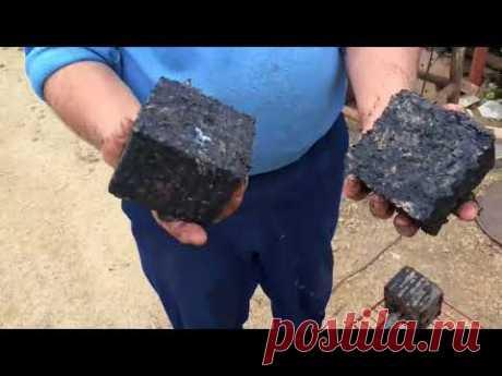 Изготовление брикетов из угольной пыли, опилок, стружки и листьев.