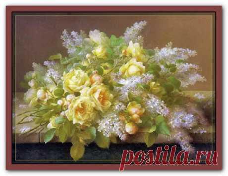 "Вышивалка: Схема вышивки ""Artecy"" ""Yellow roses & Lilacs"""