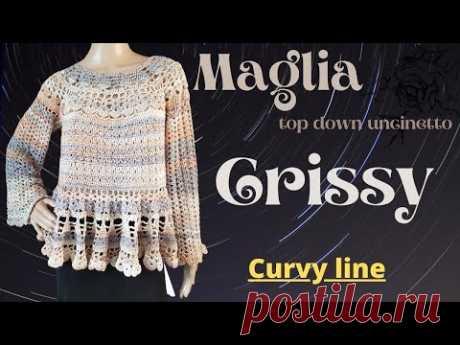 "TUTORIAL blusa top down ""Crissy"""