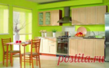Как правильно оформить кухню в зеленых тонах