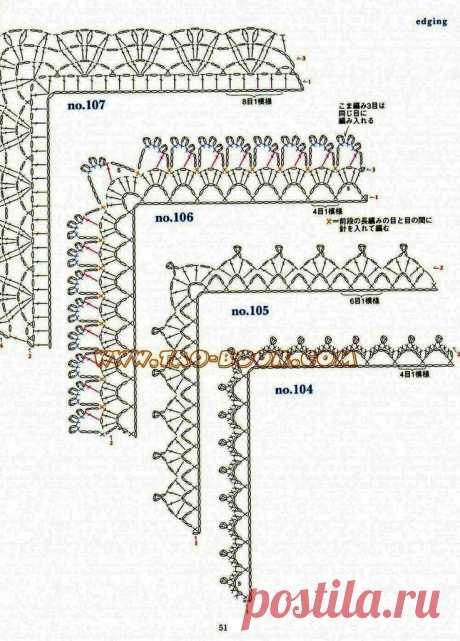 Обвязка крючком. Как обвязать край пледа. 5 угловых схем для обвязки края изделия | С2С вязание | Яндекс Дзен