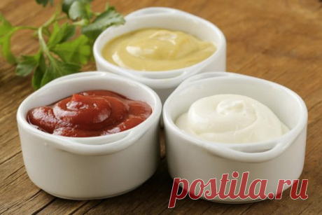 Домашний кетчуп, майонез и горчица