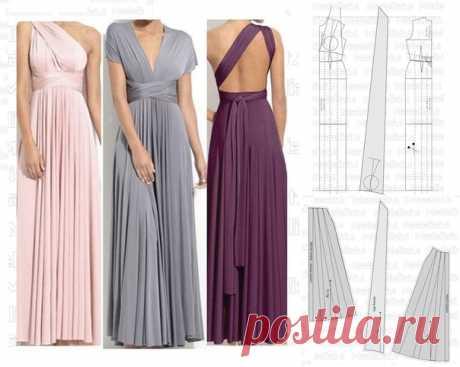 Платье-трансформер #моделирование_выкроек