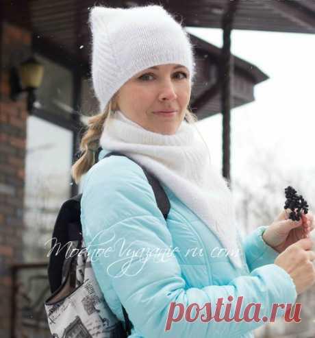 Шапочка и снуд MEOW MEOW от Татьяны Муколас - Модное вязание