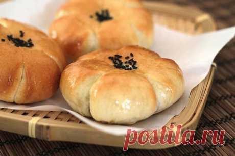 Корейские булочки со сладкой фасолевой пастой