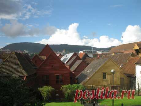 Брюгген - старинный ганзейский квартал в Бергене, Норвегия.