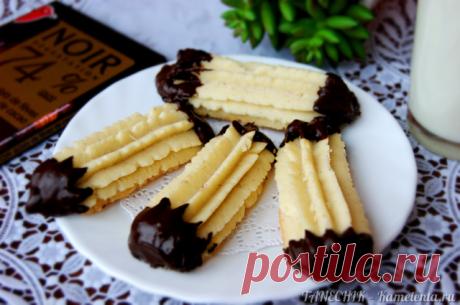Венское печенье с шоколадными хвостиками