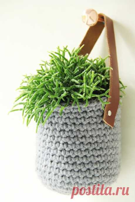 Crochet Plant Pot Cozy Cover Free Patterns & Instructions