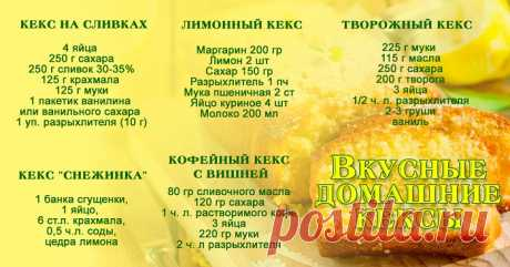 10 РЕЦЕПТОВ ДОМАШНИХ КЕКСОВ Выбирайте любой пошаговый рецепт приготовления домашнего кекса, и готовьте вместе с нами!