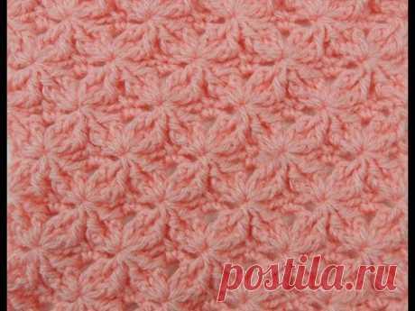 Crochet: Punto Lazos en Relieve # 2