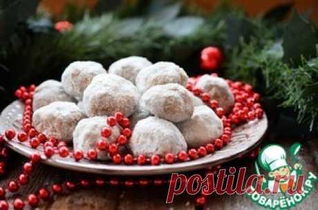 """Рождественское печенье """"Снежки"""" - кулинарный рецепт"""