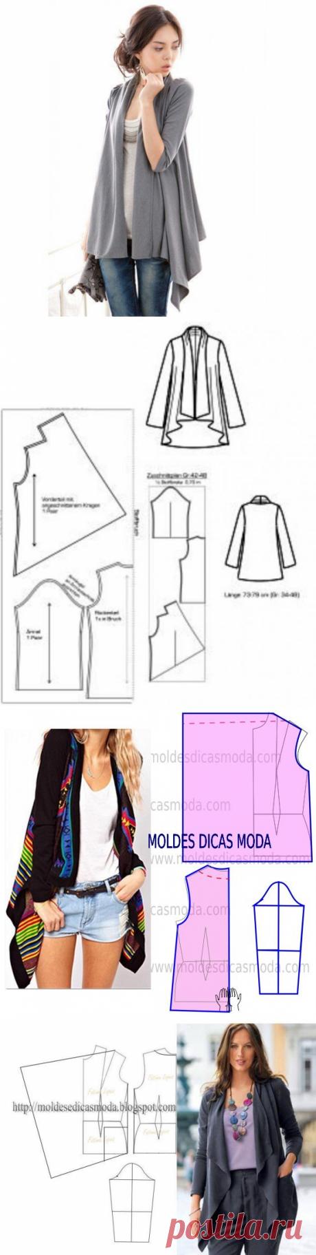 Моделирование простого и эффектного кардигана — DIYIdeas
