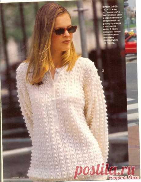 Пуловер с застежкой поло - Вязание спицами - Страна Мам