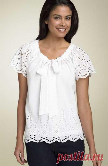 Выкройка блузки 44 до 56 размера (Шитье и крой)   Журнал Вдохновение Рукодельницы