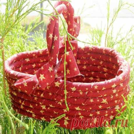 Корзинка из верёвки своими руками