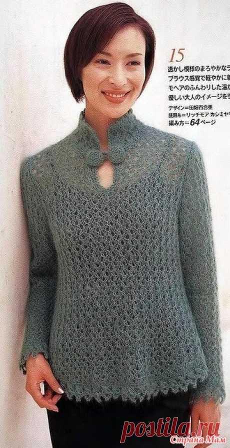 Пуловер спицами. https://www.liveinternet.ru/