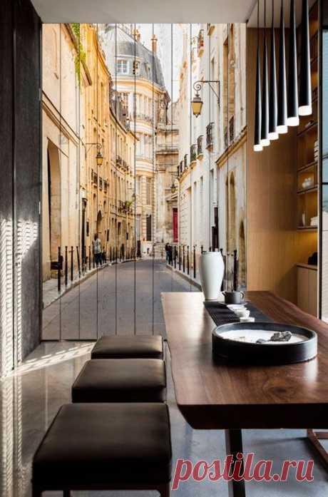 """Стеновые панели """"Парижские улицы"""" по цене от 7500 руб./кв.м. Мин. метраж: от 4 кв.м. Срок изготовления: 7-10 дней. Дизайн-макет и виртуальная примерка в вашем интерьере БЕСПЛАТНО!"""