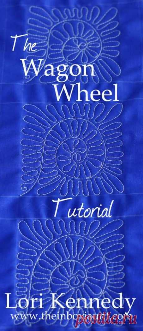 The Wagon Wheel-A Free Motion Quilt Tutorial - Lori Kennedy Quilts