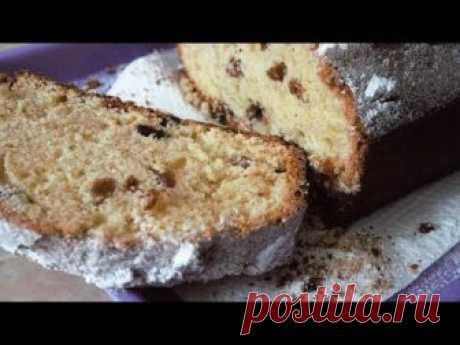 Простой быстрый кекс с изюмом, с минимумом масла. Ещё вкусные кексы: зебра кекс https://youtu.be/hSvB4lFFjGM сербский заливной манник https://youtu.be/wOnGnh...