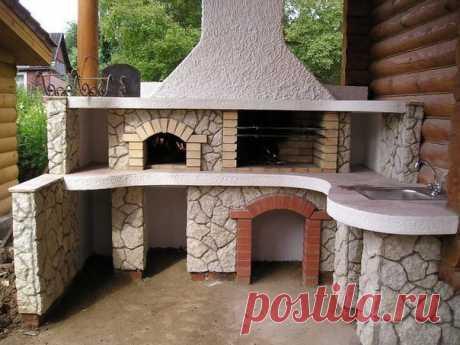 Идея оформления печки на даче
