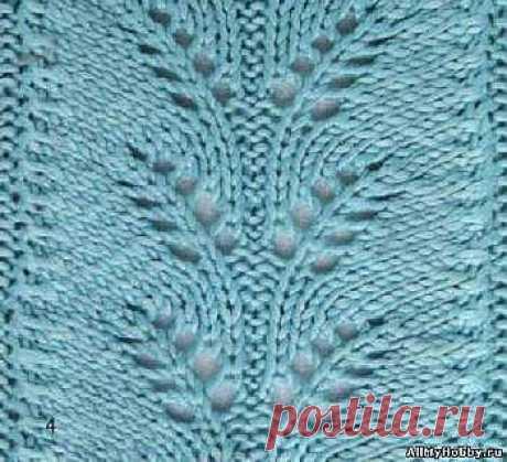 Схема для вязание спицами №6. Ажурная вязка. - Вязание спицами. Узоры