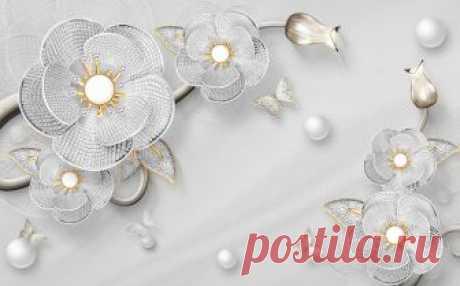 Фотообои 3д цветы 674304994 Купить на стену в Украине