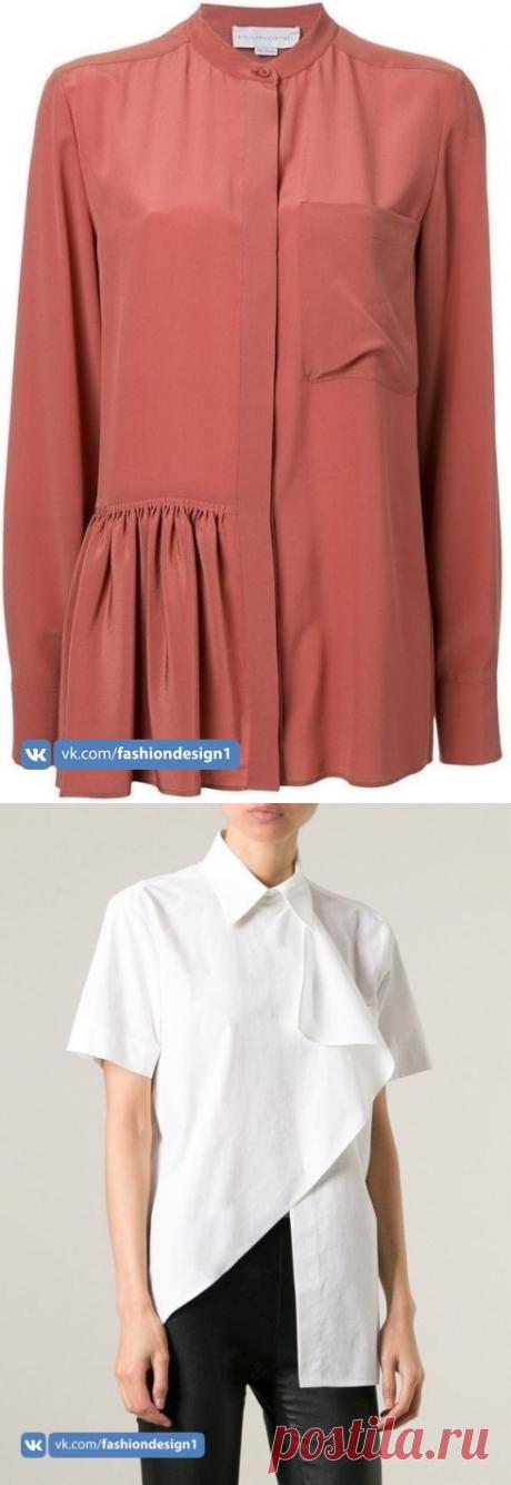 Красивые блузы ассиметричного кроя: идеи — Сделай сам, идеи для творчества - DIY Ideas