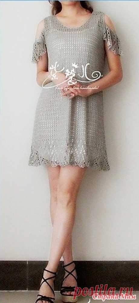 . Серебристое ажурное платье с крылышками. - Все в ажуре... (вязание крючком) - Страна Мам
