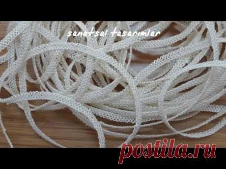 iğne oyası ciftli zincir (şerit) yapımı