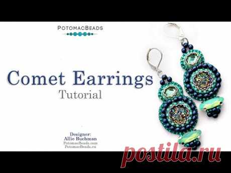 Comet Earrings - DIY Jewelry Making Tutorial by PotomacBeads