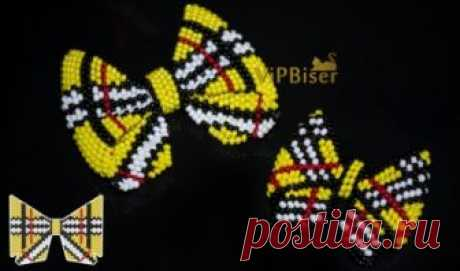 Beaded Bow Burberry. 3D Tutorial Tutorial shows how to make a Beaded Bow Burberry. Big and small Bow. Pattern, video.