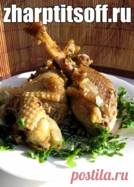 Вкусный рецепт гуся. Тушим в горшочках с грибами, овощами.