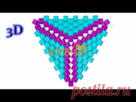 This tutorial is for making super cute triangles. You can make different pendants and earrings from these beaded triangles, or a necklace. www.vipbiser.com