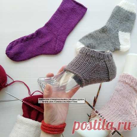 Все носки, следки, тапки на 3-5 спицах на канале: сводный пополняемый пост   Записки Спицеманьяка   Яндекс Дзен