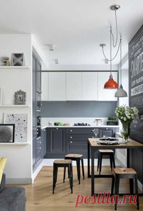 100 комфортных идей для некомфортного пространства: Маленькая кухня 2018