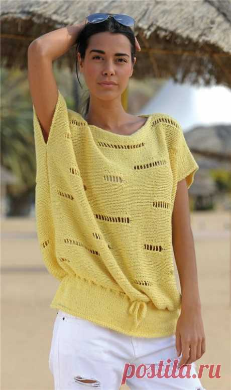 Knitting by spokes - tops, summer jackets | Records in the heading Knitting spokes - tops, summer jackets | About everything that interested...