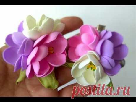 Цветы из фоамирана для начинающих💗 Заколка — Смотреть в Эфире МАГАЗИН ЗДЕСЬ: https://hobby-plus.com.ua\nВСЕМ ПОДПИСЧИКАМ ДОПОЛНИТЕЛЬНАЯ СКИДКА 3%\nInstagram  hobbyplus.com.ua\n\n\n#цветы_из_фоамирана#алла_шворак…