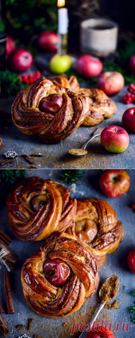 Рождественские венки с яблоками