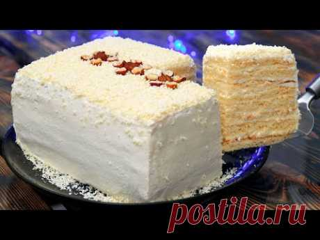 НЕЖНЫЙ Торт МОЛОЧНАЯ ДЕВОЧКА за 30 минут | ПОТРЯСАЮЩЕ ВКУСНО | Кулинарим с Таней