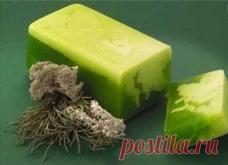 Травяное мыло Ингредиенты:мыло детское – 100 г (1 кусок)травяной отвар (крапива, шалфей, ромашка, петрушка) – 250 гмасла – 2 ч.л. (1 ч.л. оливкового, 1 ч.л. касторового)1 ч.л. мёда1/2 ч.л. витамина Е1/2 ч.л. витамина Амятное масло – 5 капельПриготовление:Натрите мыло, добавьте оливковое и касторовое...