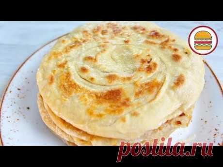 Вкуснейшая КАТЛАМА с луком. Узбекские слоеные лепешки на сковороде. - YouTube
